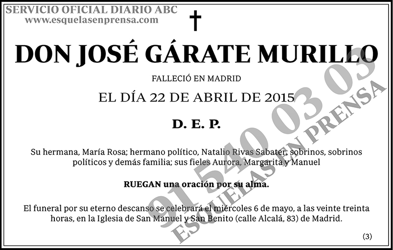 José Gárate Murillo
